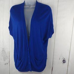 Gap Women Button Front Short Sleeve Knit Cardigan